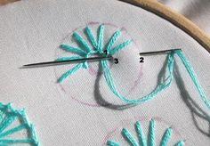 Sarah Whittle - Contemporáneo bordado Artista: Ojal Flores