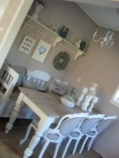 I think this is farrow and ball elephant breath on the walls, so lovely with white!