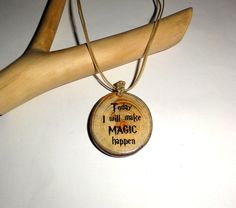 Today I will make magic happen. Beautiful custom name pendant. Magic Wands, Key Chains, Jewelry Supplies, Dog Tag Necklace, Harry Potter, Woodworking, Pendants, Necklaces, Pendant Necklace