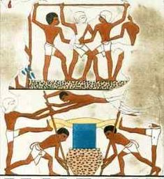 Wine production. The main centres of wine production were in the Delta and the Fayum. During the Late Period at least, wine was also produced in the Western Desert oasis of Bahariya and exported to the main population centres along the Nile. Click picture for more info.