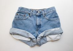 All Sizes Vintage Helios High Waisted Denim Shorts High Waisted Shorts Distressed Denim Shorts, Ripped Denim, Denim Overalls, Vintage High Waisted Shorts, Waisted Denim, Mystery, Cut Off Jeans, Vogue, Looks Cool