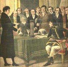 Nel 1801 Alessandro Volta illustra la sua invenzione a Napoleone Bonaparte