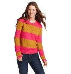 Loft::  Wide Striped Chunky Sweater  $60