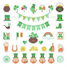 Saint Patrick's Day Icon Set