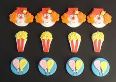 CIRCUS - CARNIVAL - Fondant Cupcake Toppers... $19.99