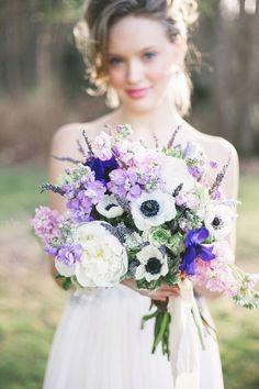 Love the lavender, royal purple, blush, and ivory bridal bouquet! Purple Wedding Flowers, Floral Wedding, Wedding Colors, Wedding Bouquets, Wedding Styles, Wedding Photos, Blue Wedding, Perfect Wedding, Dream Wedding