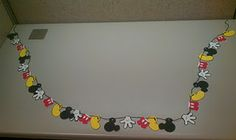 Mickey Mouse garland for a party made with Cricut's Disney Mickey & Friends cartridge
