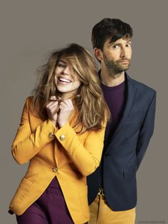 Billie Piper and David Tennant, they look (even more) adorable in this picture :3