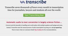 Transcribe. Transcrire des fichiers audio en texte facilement. #tice