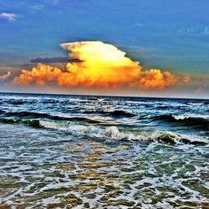 #beach #sky #clouds #surf