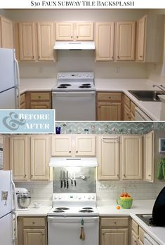 how to paint tiles in kitchen i created a faux subway tile backsplash using a brick 8820