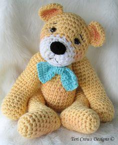 Ganchillo patrón de oso de peluche favorito por por TCrewsDesigns