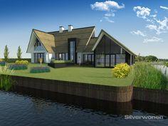 Een helder concept, gecombineerd met een strak architectuurbeeld levert dit mooie ensemble van hoofd- en bijgebouw.