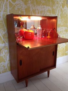 Vintage Cocktail Cabinet 1950s 1960s Drinks Bar Retro