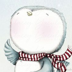 art print  blue bird  snow  winter  illustration  por staceyyacula, $20.00