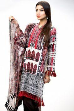 G1478A Embroidered Lawn Shirt 1.25m Lawn Shirt 2.25m Lawn shalwar 2.5m Chiffon Dupatta 2.5m Rs6799