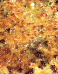 Breakfast Casserole With Sausage, Hashbrowns And Eggs