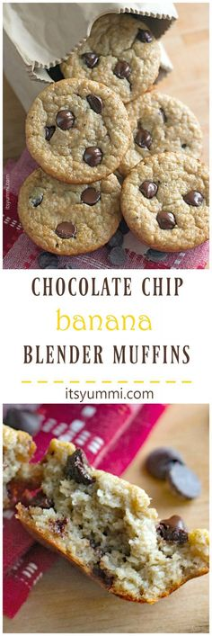 Come on over and grab the recipe to make these gluten free, healthier, chocolate stuffed banana muffins. This one-bowl recipe is made in a blender!