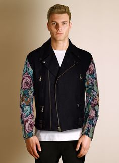 To-orist - Biker Wool Tapestry Jacket £450