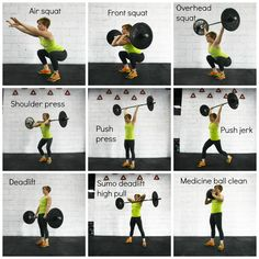 The 9 essential CrossFit movements.