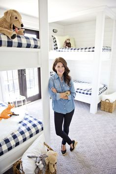 bunks | navy buffalo check