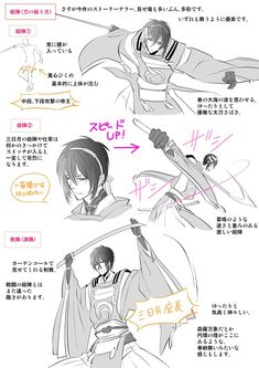 Touken Ranbou Drawing Reference - How to hold a Katana