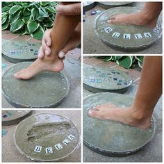 Cement Handprint Stepping Stones