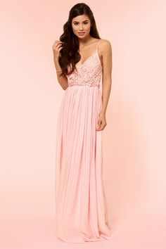 Blooming Prairie Crocheted Pink Maxi Dress - Spring- Maxi dresses ...