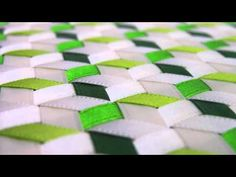 Libreta de Listones Diagonal Verde Blanco (No es Tutorial) - YouTube