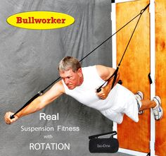 Bullworker Iso-Gym Suspension Fitness Trainer with FREE Suspension Belt. Suspension fitness trainer with ROTAIONAL movement. This is the only trainer providing this essential movement for full body development. Includes FREE Suspension Belt for Beginners to SAFELY go through exercise positions and provide ADVANCE exercises for trainers and pro users. Core Rotation Movement Exercises with Iso-Motion. The safest exercise postions up to ADVANCE Users only. Easy Attachment - includes…