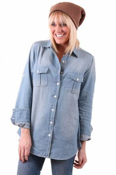 Classically Denim Blouse.  This would be my 4th jean top... but I love the length!!