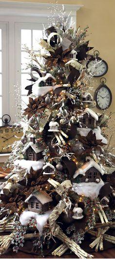 Christmas Tree ● Log Cabins