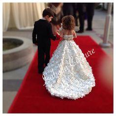 Flor chica vestido Rosette Dress encaje por IsabellaCoutureShop
