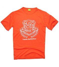 T-shirt męski Hugo Boss pomarańczowy