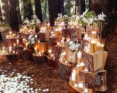 65 Outdoor Woodland Wedding Decor Ideas | HappyWedd.com