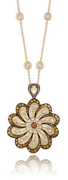 new product b25f1 4a389 Pendant, Cognac Diamonds, Flower Power Diamond Flower, Magpie, Diamond  Pendant, Gaia