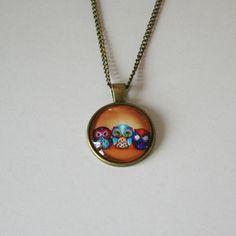 Skøn ugle halskæde med glas vedhæng, mange forskellige, 49 kr/ stk. http://uglenimosen.dk/produkter/5-smykker-/