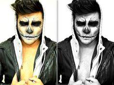 maquillage-halloween-homme-tête-de-mort-idées-originales