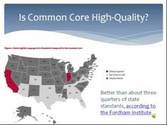 Common Core Standards - Fact and Fiction - YouTube 4-14-2013  This is an excellent video explaining Common Core in the basic and the more specific.  This is 1 hour six minutes and 48 seconds long, but well worth watching all the same.  Uploaded by gohrmilwpccom  Presented by Joy Pullmann Managing Editor of School Reform News and an Education Research Fellow at The Heartland Institute