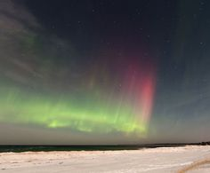 Mild geomagnetic activity is already underway following a lesser CME impact on March 7th. Shortly after the cloud arrived, a burst of Northern Lights appeared over the US-Canadian border. Shawn Malone photographed the display from the shores of Lake Superior:
