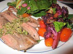 ThreeDietsOneDinner - Paleo Recipes to fit every diet - Paleo Weight Loss - Optimal Nutrition: BALSAMIC CAULIFLOWER & FLANK STEAK