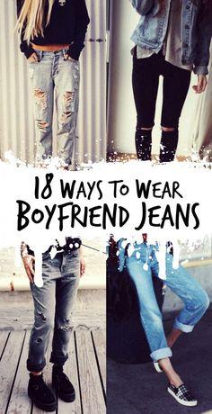 18 Ways to Wear Boyfriend Jeans - http://ninjacosmico.com/18-ways-boyfriend-jeans/