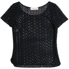 Cacharel T-shirt broderies anglaises Noir sur LFG via Polyvore