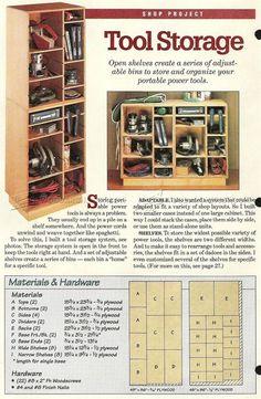 #1239 Tool Storage Shelves Plan - Workshop Solutions
