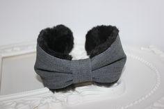 denim earmuffs for women skiing earmuffs denim turban soft fur earmuffs cute winter headband