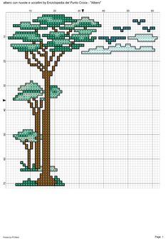 albero: albero con nuvole e uccellini 1