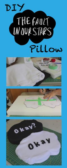 DIY The Fault in Our Stars Pillow! #TFioS click the pic for full tutorial!