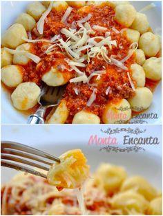 Gnocchi de Batata – Eu amo Nhoque! Nhoque tem história tem memória, é comida de família, lembra mesa grande, gente reunida, lembra festa, crianças correndo ao redor da mesa, sinal de convers…