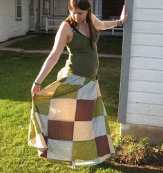 PRICE REDUCED Crazy Quilt Long Patchwork Skirt