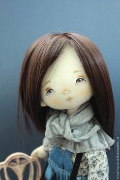 Коллекционные куклы ручной работы. Ярмарка Мастеров - ручная работа. Купить Текстильная авторская кукла Лера. Handmade. Синий